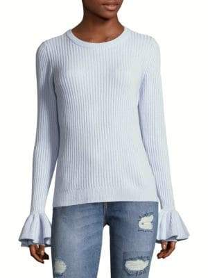 Derek Lam 10 Crosby Bell-Sleeve Sweater