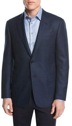Giorgio Armani Textured Wool Two-Button Sport Coat, Blue