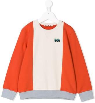 Marni contrast panel sweatshirt