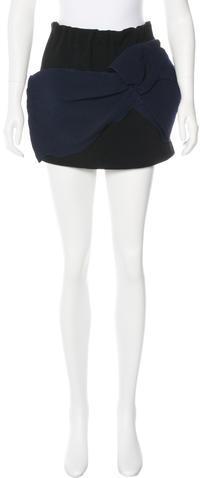 Miu MiuMiu Miu Distressed Mini Skirt