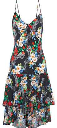 Marissa Webb Illana Ruffled Printed Silk-chiffon Dress