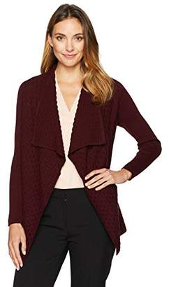 Chaus Women's Long Sleeve Textured Stitch Cardigan