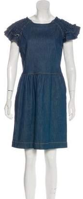 RED Valentino Ruffle Denim Dress