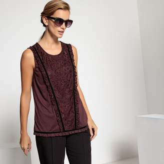 Anne Weyburn Sleeveless Lace T-Shirt
