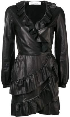 IRO lambskin ruffle dress