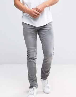 Pull&Bear Skinny Jeans In Light Grey