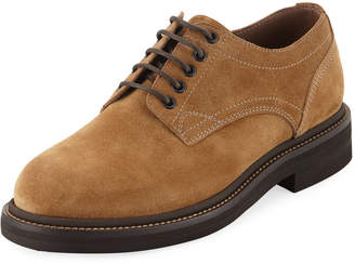 Brunello Cucinelli Men's Suede Lace-Up Shoes