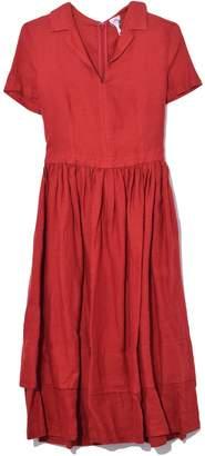 d36d850be3c Aspesi Short Sleeve Linen Dress in Red