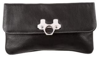 Zac Posen Textured Leather Clutch