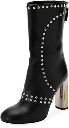 Alexander McQueen Studded Leather Zip Bootie