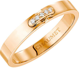 Chaumet Liens XXS 18ct rose-gold and diamond wedding band