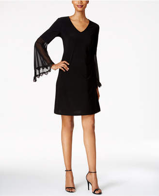 Msk Illusion Bell-Sleeve A-Line Dress $69 thestylecure.com