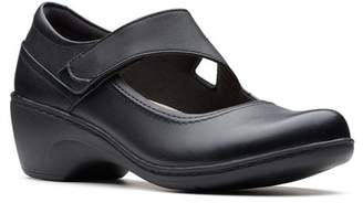 Clarks Channing Penny Leather Mary Jane Flat - Wide Width Available