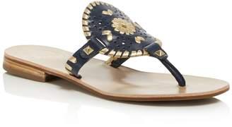 Jack Rogers Women's Georgica Leather Thong Sandals