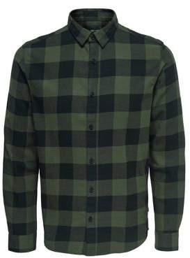 ONLY & SONS Checked Flannel Cotton Shirt