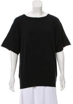 Dries Van Noten Rib Knit-Trimmed Short Sleeve Sweater