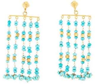 18K Turquoise Chandelier Earrings