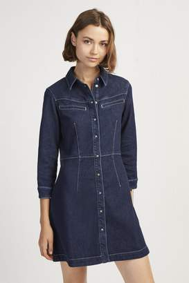 French Connection Jens Western Denim Shirt Dress