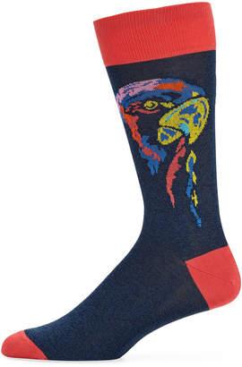 Bugatchi Men's Parrot Cotton-Blend Socks