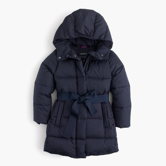 Girls' tie-front puffer jacket $128 thestylecure.com