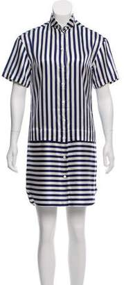Burberry Silk-Blend Striped Dress