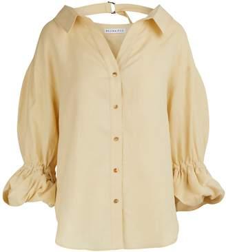 REJINA PYO Amber linen blend shirt