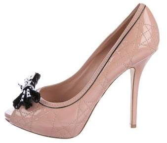 Christian Dior Lace Cannage Pumps
