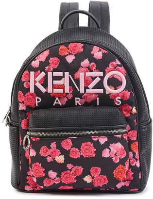 Kenzo Flowers logo backpack
