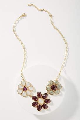 Anthropologie Mosaic Florals Bib Necklace