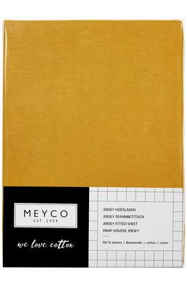 Camilla And Marc Meyco 565023 Jersey Fitted Sheet Baby Bed 100% Cotton 70 x 140/150 cm Ochre Yellow