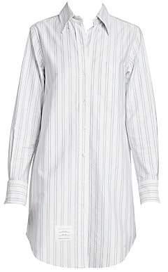 Thom Browne Women's Pinstripe Button-Down Shirtdress