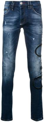 Philipp Plein side logo skinny jeans