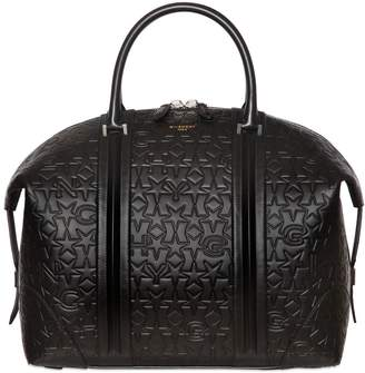 Givenchy Star & Logo Embossed Leather Duffle Bag