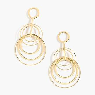 J.Crew Layered circle drop earrings
