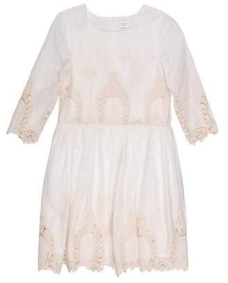 Carrèment Beau Girls' Lace Short Sleeve Dress w/ Tags