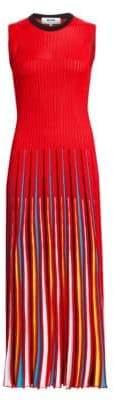 MSGM Rainbow Pleated Sleeveless Dress