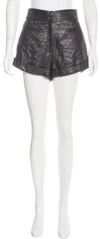 Anna SuiAnna Sui Metallic High-Rise Shorts w/ Tags