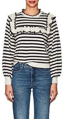 Ulla Johnson Women's Lourdes Striped Cotton-Cashmere Sweater