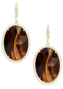 Saks Fifth Avenue Goldtone Cubic Zirconia Earrings