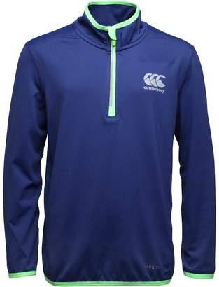 Canterbury of New Zealand Junior Boys VapoDri First Layer Top Blue Print