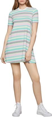 BCBGeneration Multicolor Striped T-Shirt Dress