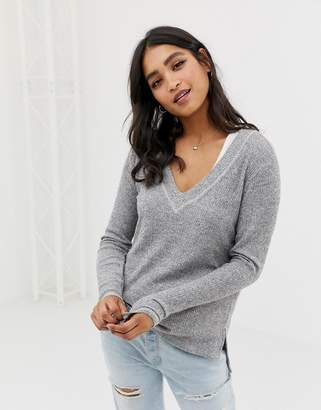 Abercrombie & Fitch drapey cozy top