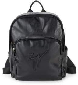 Giuseppe Zanotti Logo Leather Backpack