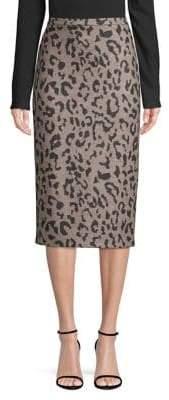 Max Mara Thomas Leopard-Print Pencil Skirt