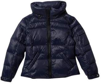 S13 Glossy Down Jacket with Detachable Hood (Little Girls)