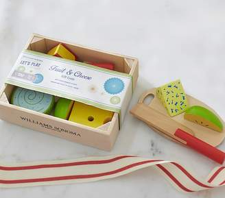 Pottery Barn Kids Williams Sonoma Toy Food Crate - Cheese and Fruit