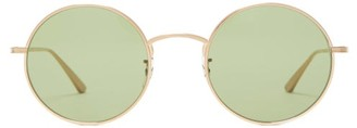The Row X Oliver Peoples After Midnight Round Sunglasses - Womens - Green