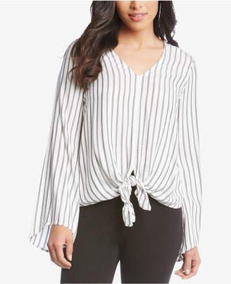Karen Kane Striped Tie-Front Blouse
