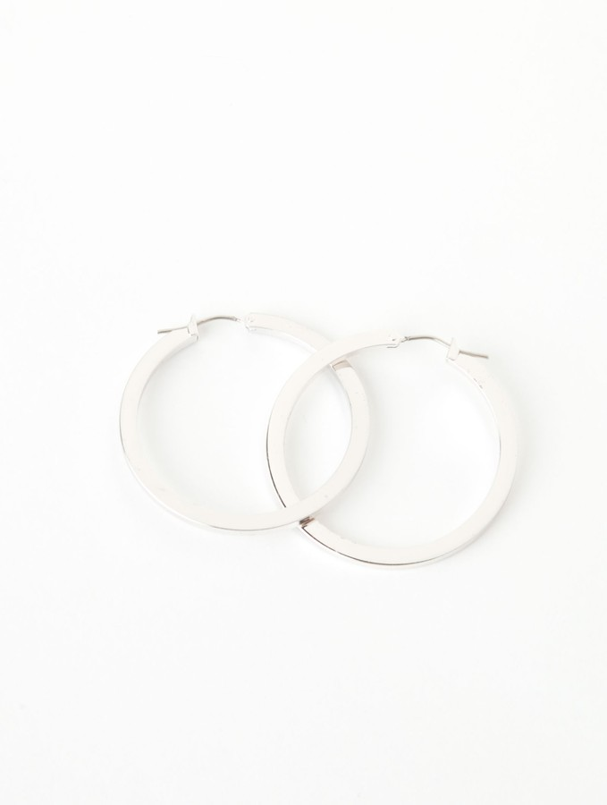 Thick Polished Hoops by Lori's Shoes