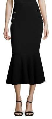 Michael Kors Collection Wool Trumpet Skirt